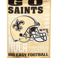 New Orleans Saints 2 Sided Suede Reflections House Flag