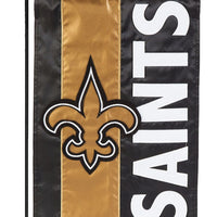 New Orleans Saints Embellished Applique Garden Flag