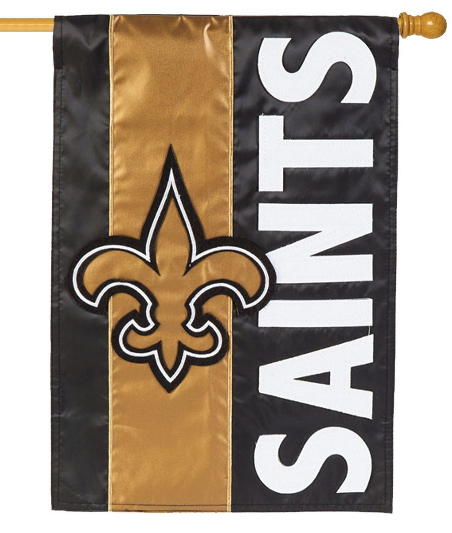 New Orleans Saints Embellished Applique House Flag