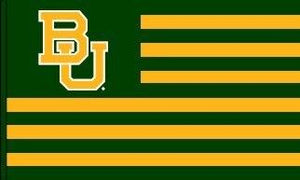 Baylor University Striped Style 3x5 Flag