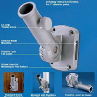 Adjustable White 1 Inch Aluminum Bracket