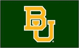 Baylor University Interlocking BU Green Applique 3x5 Flag