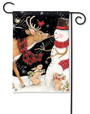 Nose to Nose Snowman Garden Flag