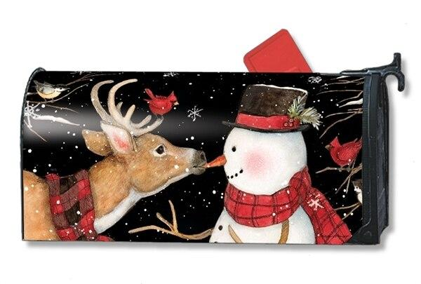 Nose to Nose Snowman Mailbox Cover