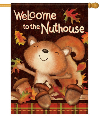 Nuthouse Squirrel House Flag