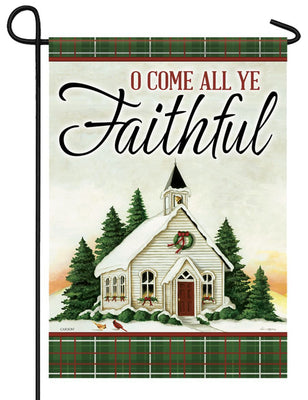 O Come All Ye Faithful Garden Flag