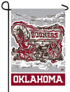 OU Sooners Whimsical Mascot Suede Reflections Garden Flag
