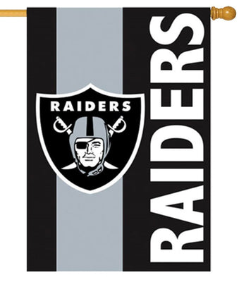 Las Vegas Raiders Embellished Applique Garden Flag I Americas Flags