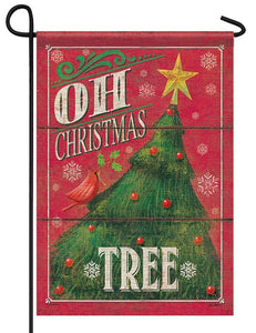 Oh Christmas Tree Garden Flag