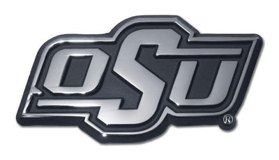 Oklahoma State University OSU Chrome Car Emblem