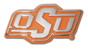 Oklahoma State University OSU Chrome with Orange Car Emblem