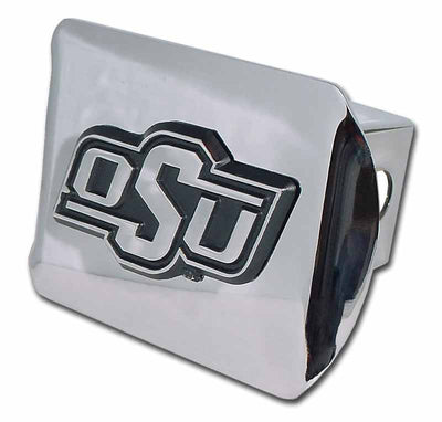 Oklahoma State University OSU Shiny Chrome Hitch Cover