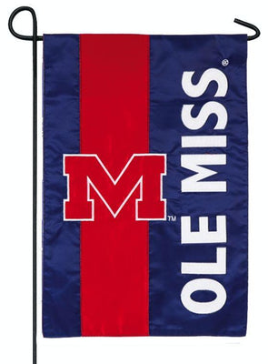 Ole Miss Embellished Applique Garden Flag