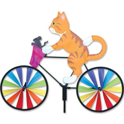 Orange Cat Bicycle Wind Spinner
