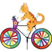Orange Cat Large Bicycle Wind Spinner