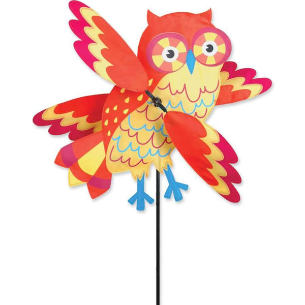 Orange Owl Large WhirliGig Wind Spinner