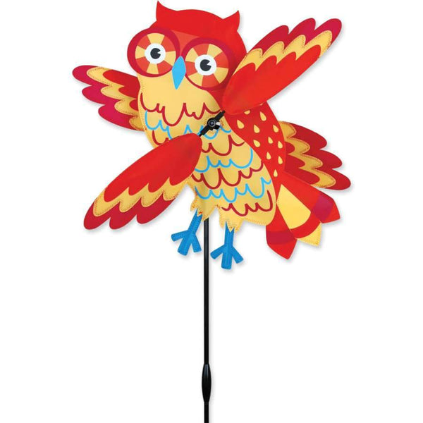 Orange Owl WhirliGig Wind Spinner