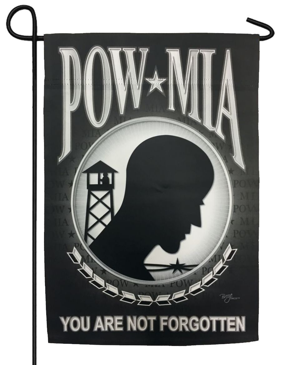 POW MIA Sublimated Garden Flag - Military Flags/POW - MIA Flags - I AmEricas Flags