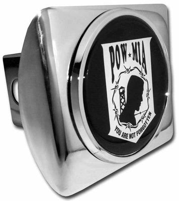 POW/MIA Chrome Hitch Cover