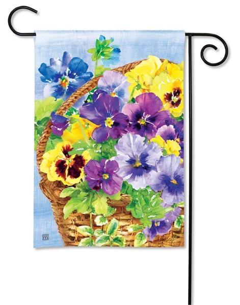 Pansy Blooms Garden Flag