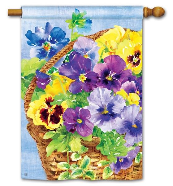 Pansy Blooms House Flag