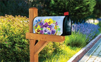 Pansy Blooms Mailbox Cover Live