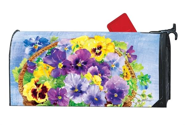 Pansy Blooms OVERSIZED Mailbox Cover - I AmEricas Flags