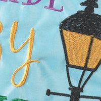 Parade Our Crazy Double Applique Garden Flag Detail 2
