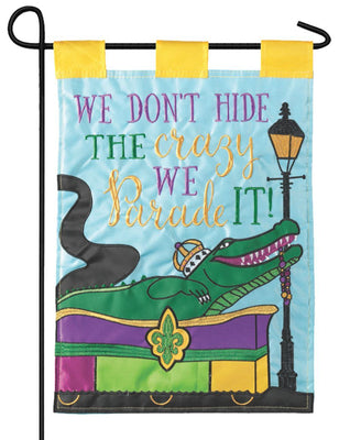 Parade Our Crazy Double Applique Garden Flag
