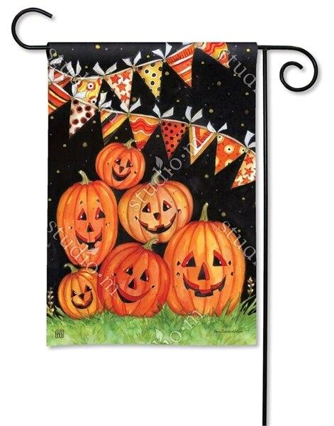 Party Time Pumpkins Garden Flag - All Decorative Flags/Holidays/Halloween Flags - I AmEricas Flags