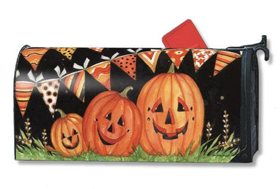 Party Time Pumpkins Mailbox Cover