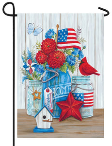 Patriotic Arrangement Garden Flag