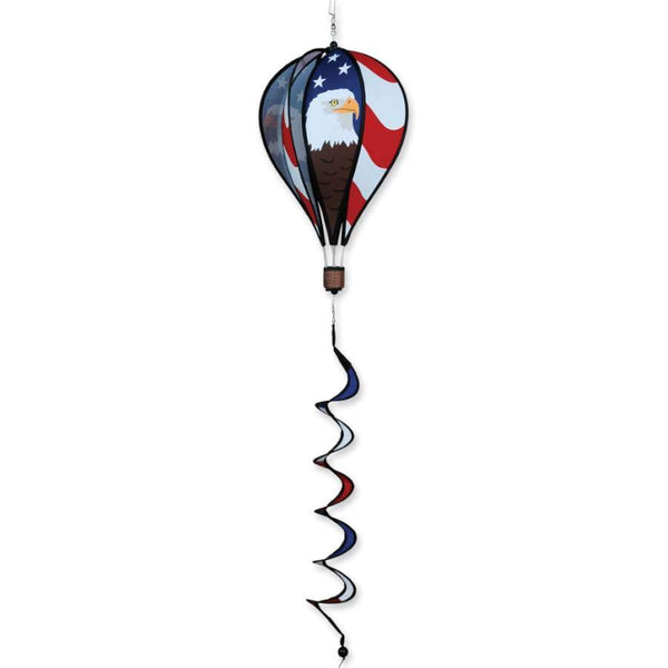 Patriotic Eagle Hot Air Balloon with Tail Spinner