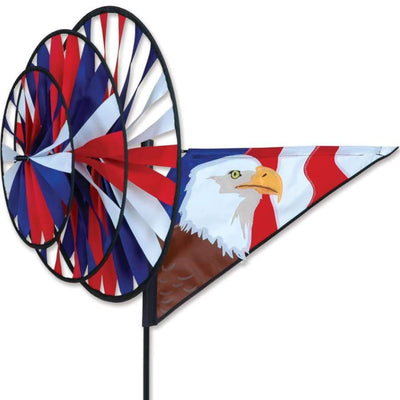 Patriotic Eagle Triple Wind Spinner