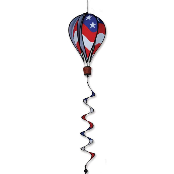 Patriotic Hot Air Balloon with Tail Spinner