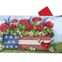 Patriotic Planter Box Mailbox Cover