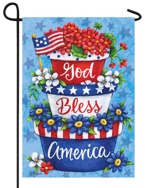 Patriotic Planter Garden Flag - I AmEricas Flags