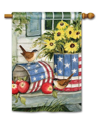 Patriotic Planters House Flag