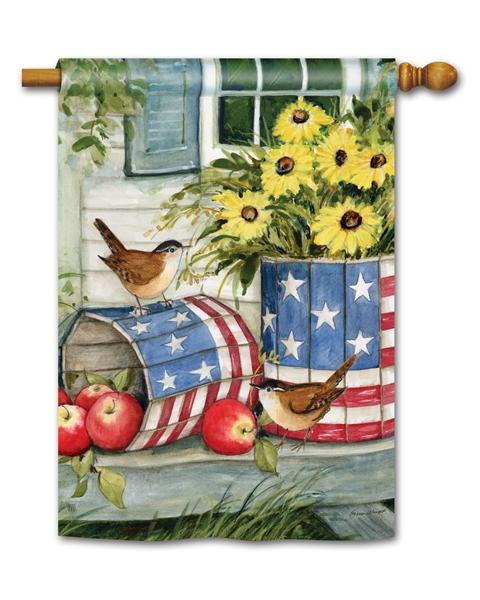 Patriotic Planters House Flag - All Decorative Flags/Themes/Patriotic Flags - I AmEricas Flags