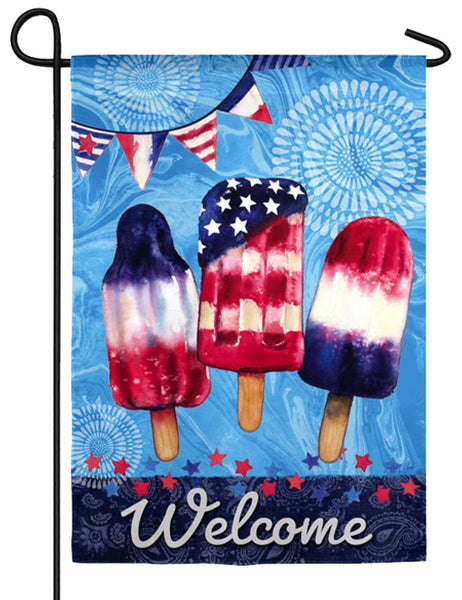 Patriotic Popsicles Textured Suede Reflections Garden Flag - I AmEricas Flags
