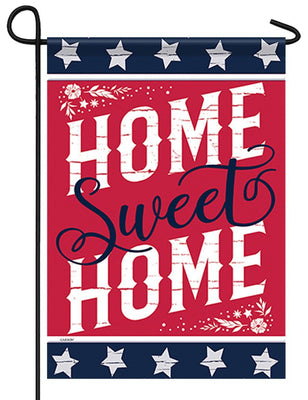 Patriotic Rustic Home Sweet Home Garden Flag