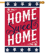 Patriotic Rustic Home Sweet Home House Flag