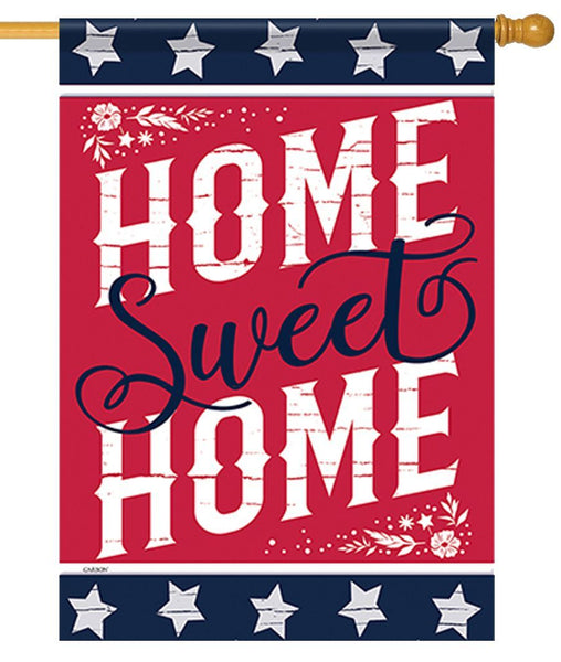 Patriotic Rustic Home Sweet Home House Flag - All Decorative Flags/Themes/Patriotic Flags - I AmEricas Flags