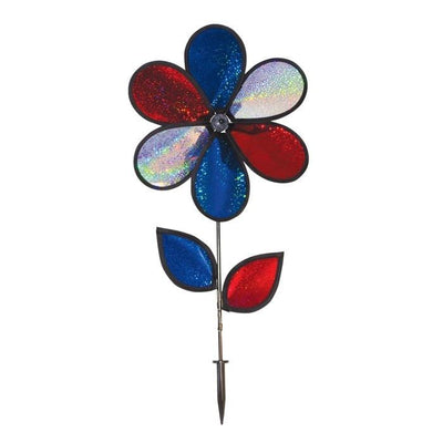 Patriotic Sparkle Sunflower Wind Spinner
