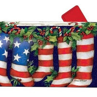 Patriotic Stockings Mailbox Cover