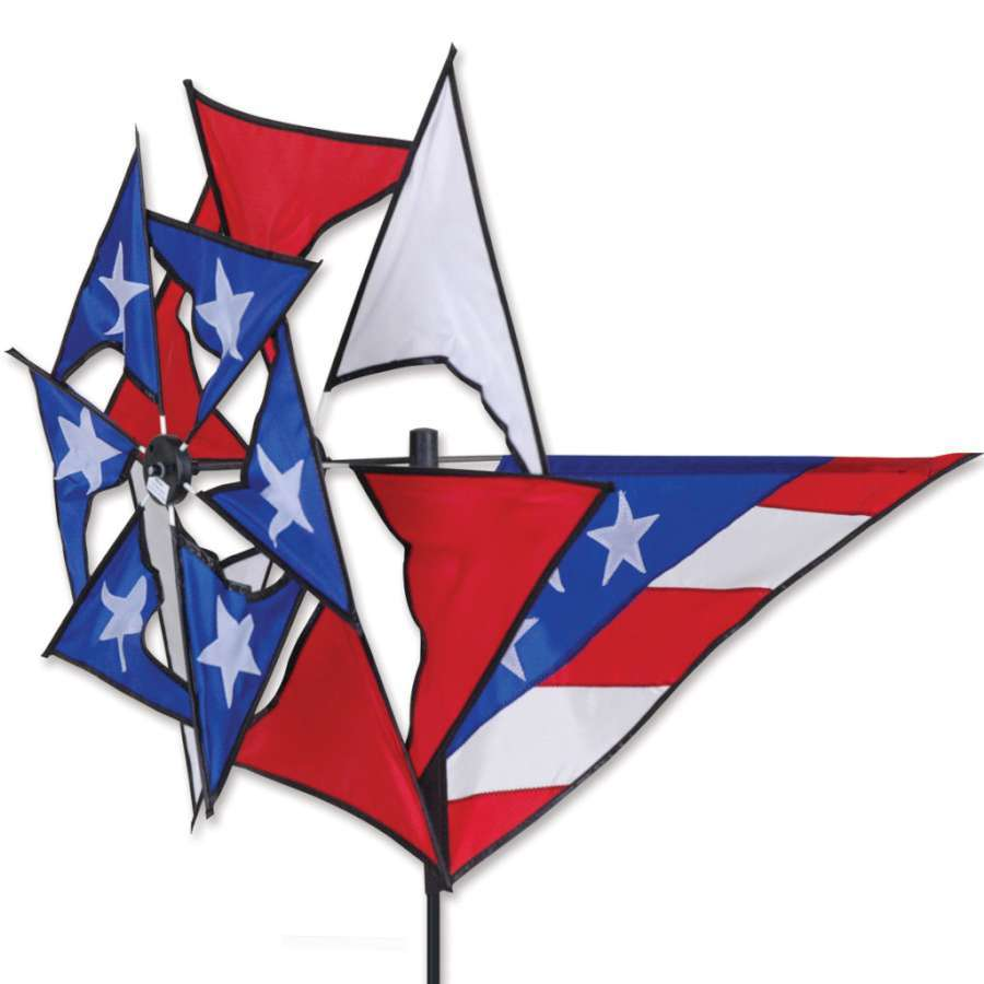 Patriotic Windmill Wind Spinner
