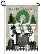 Patterned Christmas Mantel Garden Flag
