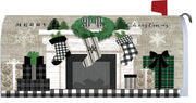 Patterned Christmas Mantel Mailbox Cover
