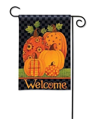 Patterned Pumpkins Garden Flag