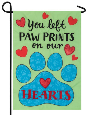 Paw Prints Double Applique Garden Flag